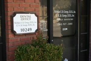 Entrance of Dr. Nicholas S. St. George DDS in Downey CA